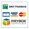 Paiement CB Visa Mastercard sécurisé par BNP Paribas et Paybox services